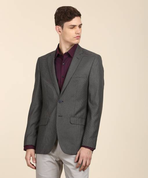 Raymond Houndstooth Single Ted Formal Men S Blazer