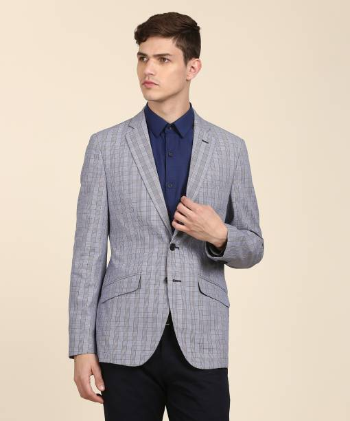 Raymond Checkered Single Ted Formal Men S Blazer
