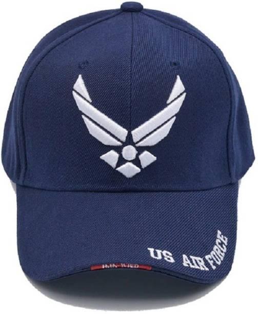 fad7eb038c2cc Xaris Embroidered Baseball Cap US Airforce Unisex Casual Cotton