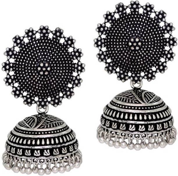a8e523471 Nawab Jaipur Mart Oxidised Silver Plated Handmade Women Jhumka Jhumki  Earrings Alloy Jhumki Earring, Chandbali