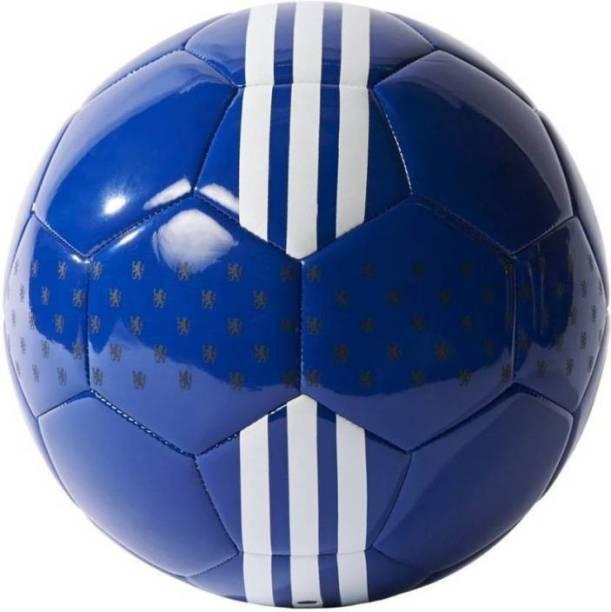 RASON Chelsea Blue 32 Panel Hand Stitched Ball (Size-5) Football - Size: 5