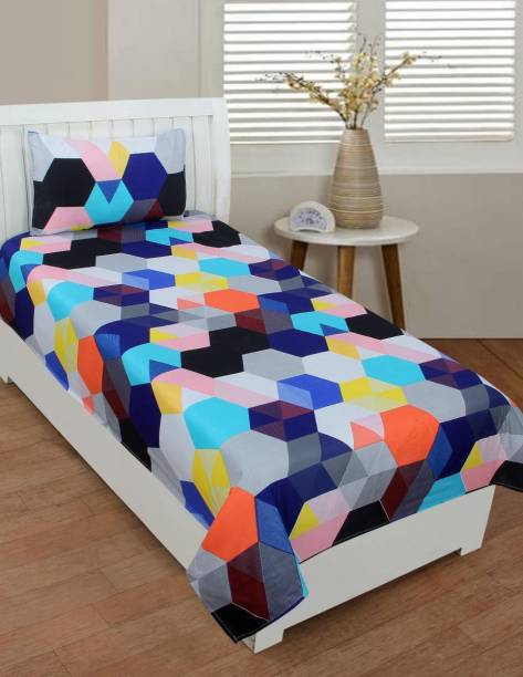 KDS Collections 120 TC Polycotton Double Geometric Bedsheet