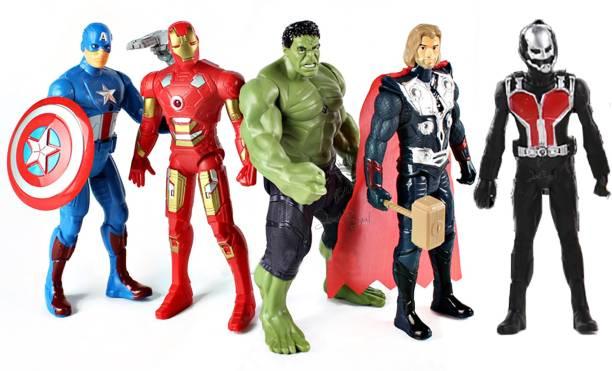 STYLO ACtion Figuers - Avengers 2 infinite - Power Hero's(set of 5)
