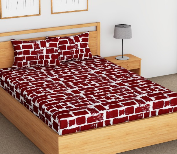 Flipkart SmartBuy 104 TC Cotton Double Printed Bedsheet