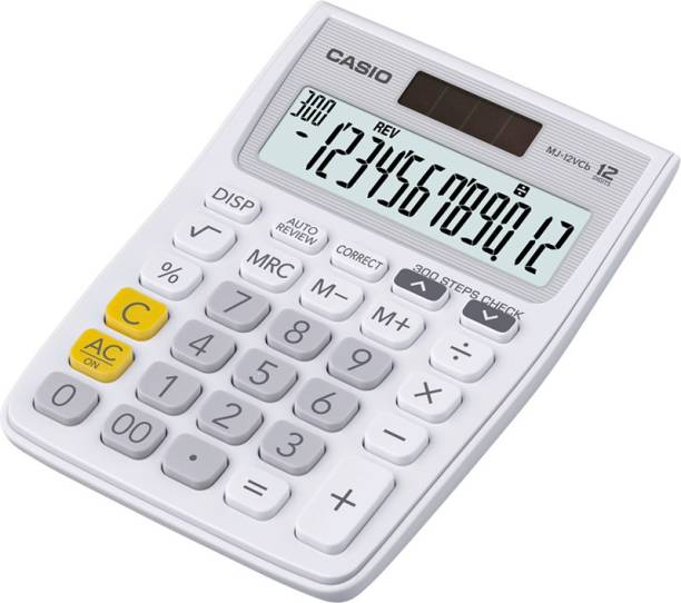 CASIO MJ-12VCB-WE Desktop Basic  Calculator