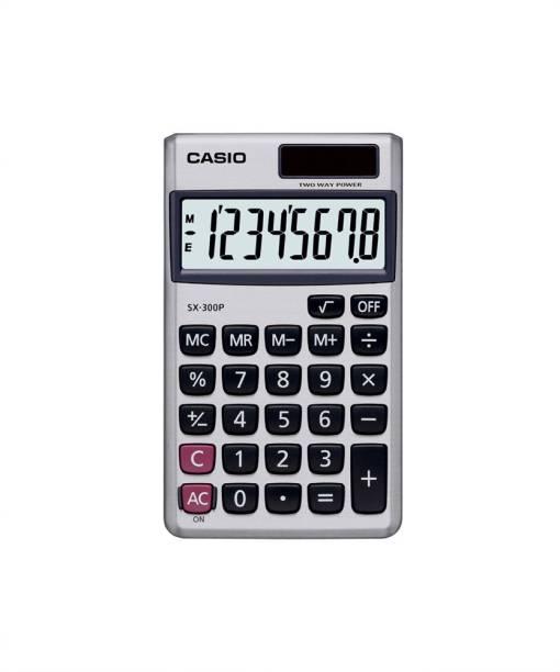CASIO SX-300P-W Portable Basic  Calculator
