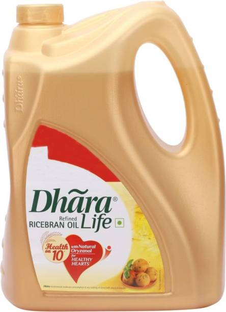 Dhara Refined Rice Bran Oil Can