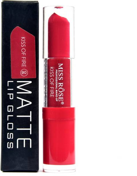 MISS ROSE waterproof red colour matte lip gloss 3 ml kiss of fire 06
