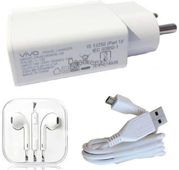 ViVO Wall Charger Accessory Combo for Vivo Y11,Vivo V5 Plus, V9, Vivo V5, Vivo V1, Vivo V1 max Vivo V3 max, Vivo V5s, Vivo Y53, Vivo Y21, Vivo V3, Vivo Y15, Vivo Y31L