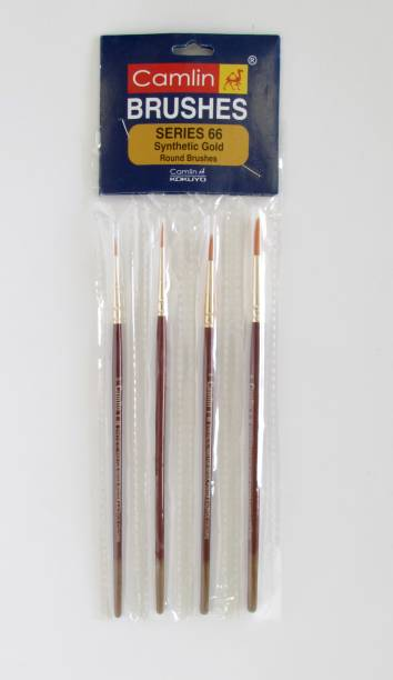 Camlin Series 66 - 4 Brushes Pack Synthetic Hair