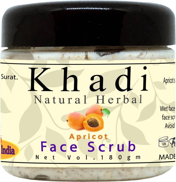 khadi natural herbal Tan Removal Apricot Face Scrub for All Skin Type Scrub