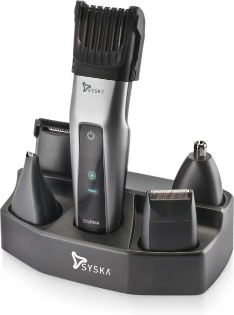 Syska HT3052K/01 Runtime: 50 min Trimmer for Men