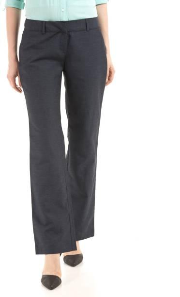 Arrow Regular Fit Women s Dark Blue Trousers eac957005b