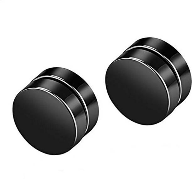 9a611365a8d Divastri Magnetic Non-Piercing 316L Stainless Steel Studs Earrings  Stainless Steel Stud Earring