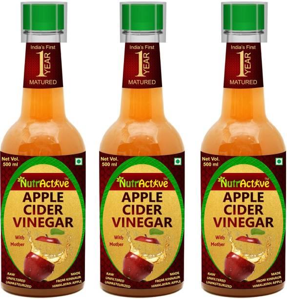 NutrActive 1 Year Matured Apple Cider Vinegar with Mother 1500 ml | Weight Management Vinegar