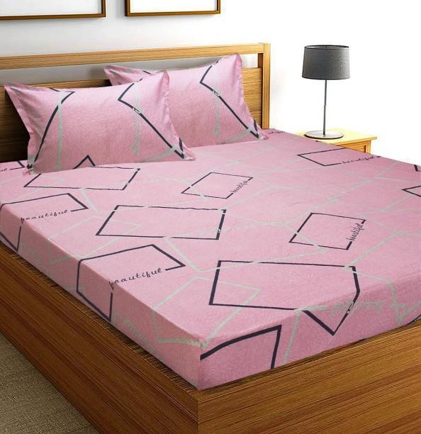 Flipkart SmartBuy 152 TC Microfiber Double Geometric Bedsheet