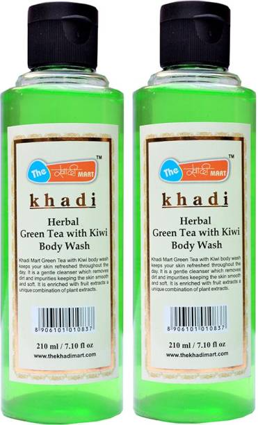 more photos 161c6 9ed3b Khadi Mart Green Tea Kiwi Body Wash - (Pack of 2) - 420 mL