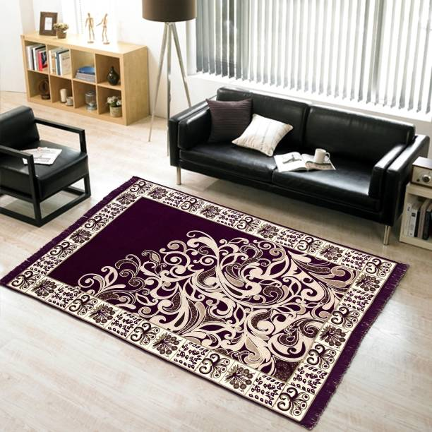 Krishna Creations Purple Chenille Carpet