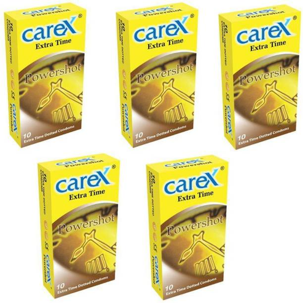 CAREX Premium Malaysia No.1 Brand Extra Time Power-shot 10X5=50 (Concealed/Confidential Packaging) Condom