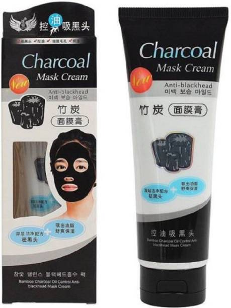 Vihado Charcoal Mask Cream HIGH QUALITY ANTI-BLACKHEAD OIL-CONTROL BAMBOO CHARCOAL MASK CREAM FOR ALL SKIN TONE (130 ml)