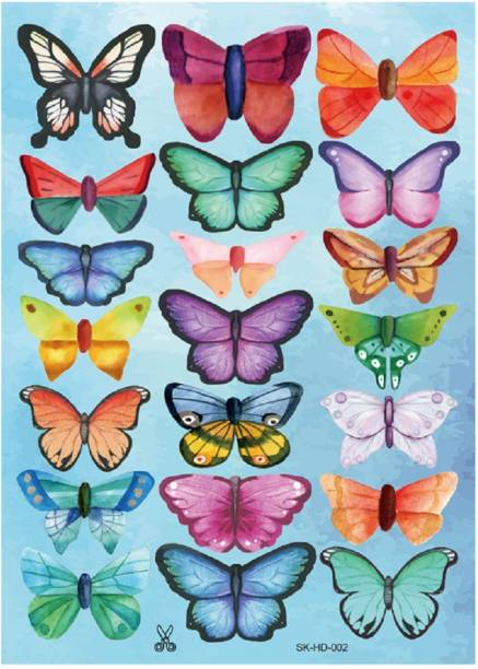 JAAMSO ROYALS DIY 3D Multicolour Butterfly Wall Sticke