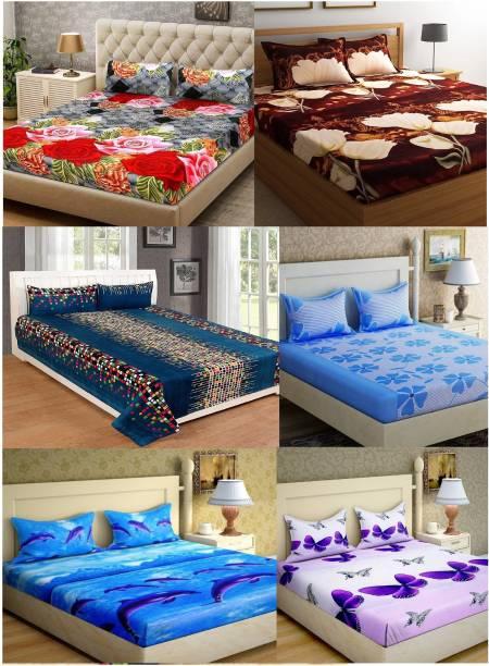 Rs Quality 160 Tc Microfiber Double Fl Bedsheet