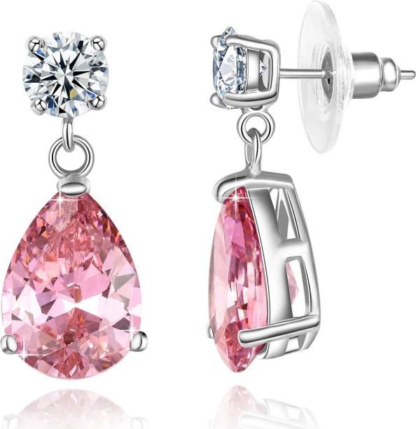 5773428c85da3c Yellow Chimes Dangling Crystal Swarovski Crystal Metal Drops & Danglers