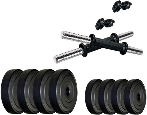 Protoner 15 kg 15kg PVC Dumbbell Set Home Gym Combo