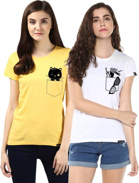 02add6ae6d Women T-Shirts - Buy Polos   T-Shirts for Women Online at Best ...