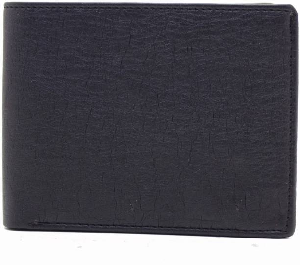 MS Men Casual Black Artificial Leather Wallet
