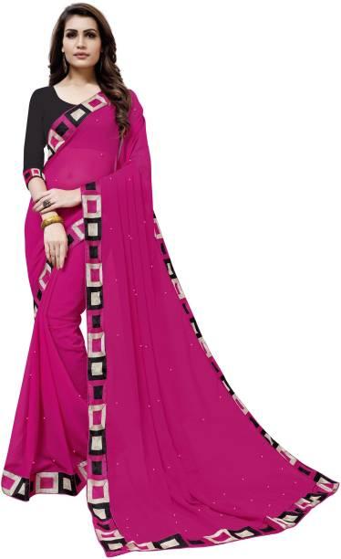 92c4c09577e Pure Georgette Sarees - Buy Pure Georgette Sarees Online at Best ...