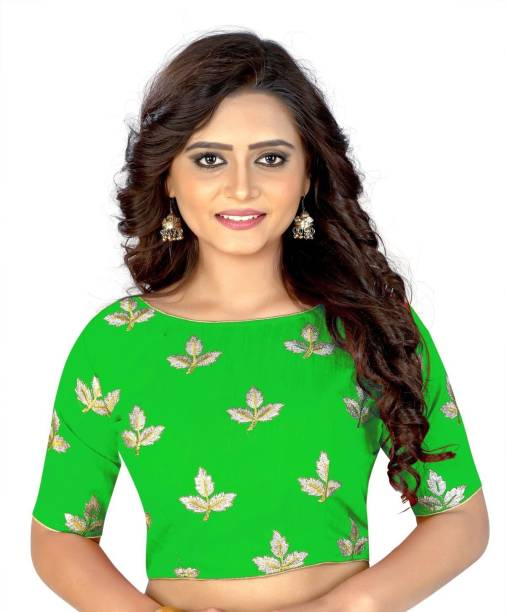3d82d92c9a584 Green Blouse Material - Buy Green Blouse Material Online at Best ...