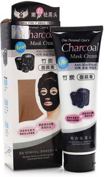 Vihado Charcoal Mask Cream ANTI-BLACKHEAD OIL-CONTROL BAMBOO CHARCOAL MASK CREAM FOR ALL SKIN TONE (130 ml)