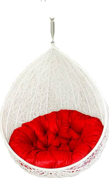 Carry Bird Hanging White with red Iron Large Swing