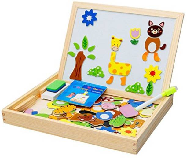 Bestie Toys Learning Wooden Magnetic Board Puzzle Game