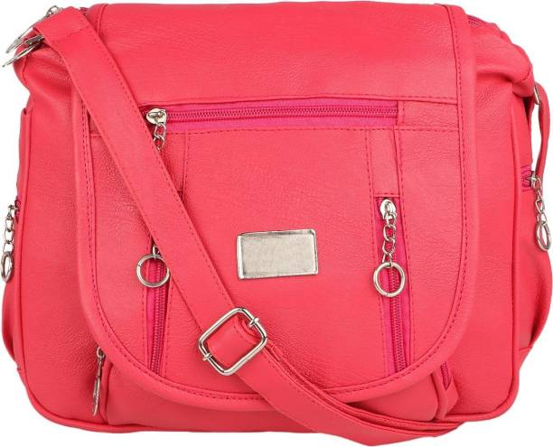 Rekha Collection Women Casual Pink Pu Sling Bag