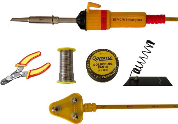 BB 5in1 Soldering Iron Kit with 25W Soldering Iron, Wire Stripper, Soldering Wire,