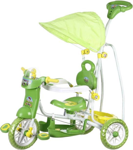 NHR Kids VEGA Musical tricycle with Canopy- GREEN Kids VEGA Musical tricycle with Canopy- Green Tricycle