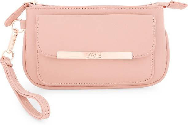 Lavie Women Casual Pink Artificial Leather Wallet