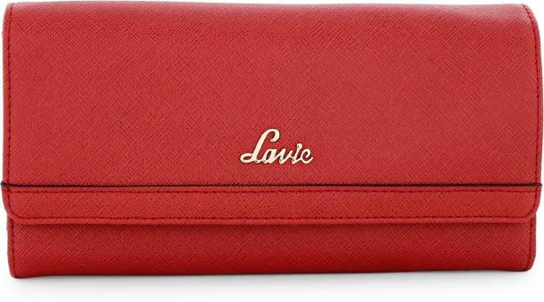 Lavie Women Casual Red Artificial Leather Wallet