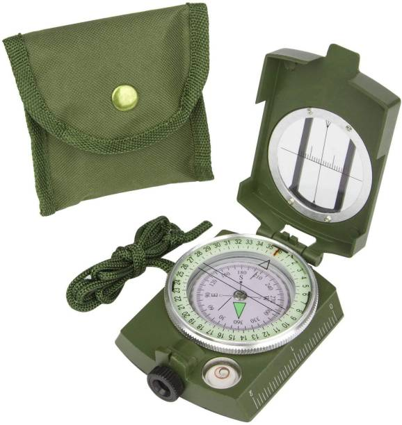 CASON Waterproof Metal Lensatic Prismatic Army Navigator For Directions Military Compass