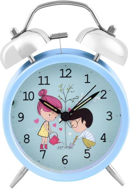 ARCHIES Analog Blue Clock