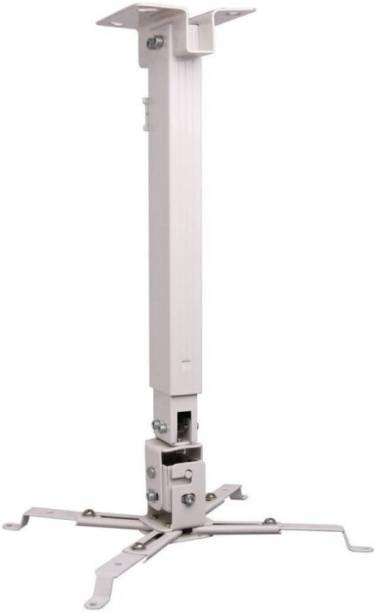 MX Heavy Duty Weight 15 Kgs 2Ft Universal Projector Ceiling Stand Bracket White Ceiling TV Mount