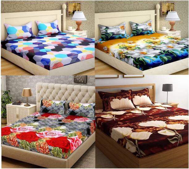 Rs Quality 160 Tc Microfiber Double King Fl Bedsheet