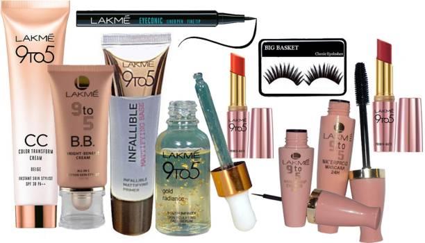 21548f03d6 big basket eyelashes , lakme 9 to 5 B.B. bright -benefit cream all in 1