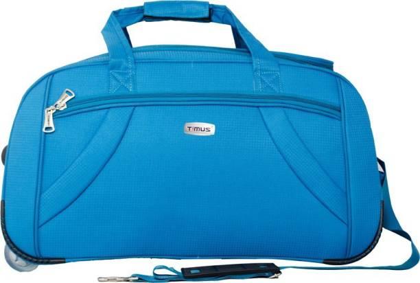 bd80ac5c0ec4 TIMUS 20 inch 51 cm Club Mumbai Ocean Blue Duffel Strolley Bag