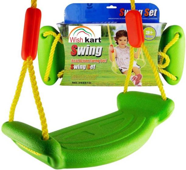 Wishkart Rectangular Kids outdoor Plastic Small Swing