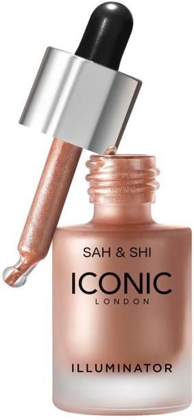 Sah&Shi ICONIC London Waterproof Illuminator Smooth Shine Liquid Highlighter 3D Glow shine Highlighter