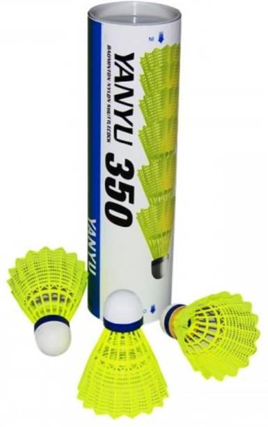 arnaV Badminton Nylon / Plastic Shuttlecock of YANYU 350 Pack of 6 Pcs Nylon Shuttle  - Yellow