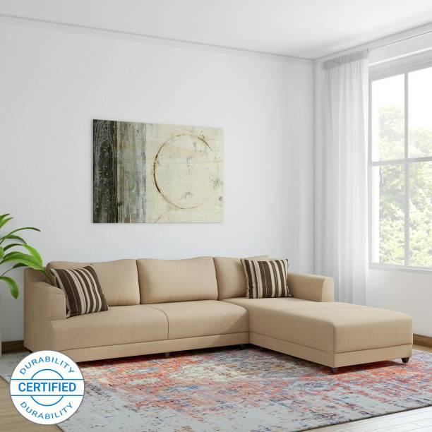 Bharat Lifestyle Mareena Fabric 6 Seater  Sofa